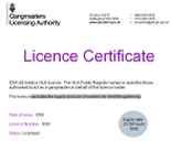 GLA licence certificate