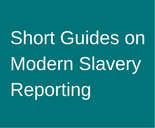 Short Guides on Modern Slavery Reporting teal background 155x128px