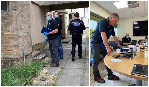GLAA officers rescuing a potential modern slavery victim in Suffolk